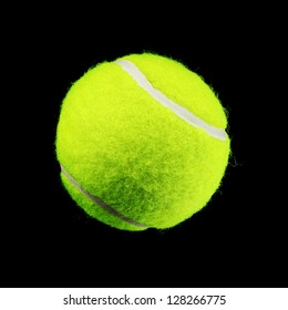 Tennis Ball isolated on black