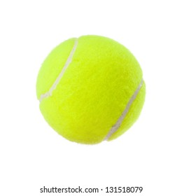 tennis ball isolated on white background