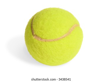 Tennis ball isolated on white (clipping path included)