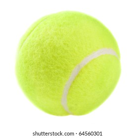 tennis ball, isolated on white background