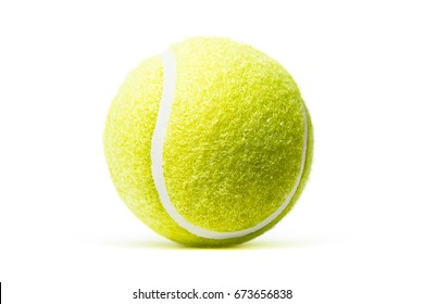 Tennis ball isolated in white background