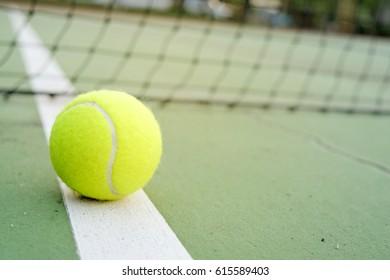 tennis ball on court