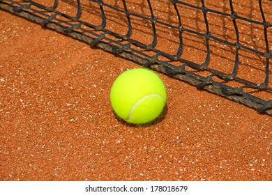 Tennis ball on the field