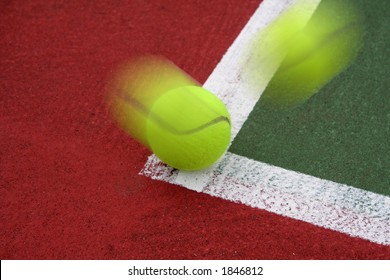 Tennis Ball on the Line