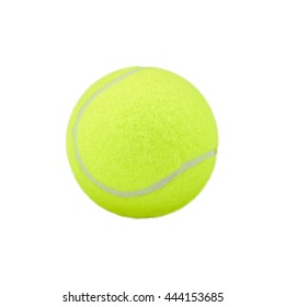 tennis ball on white background.