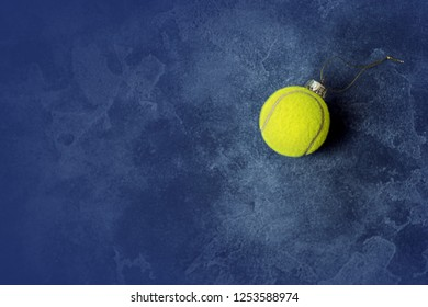 tennis ball ornament Christmas tree toy decoration concept