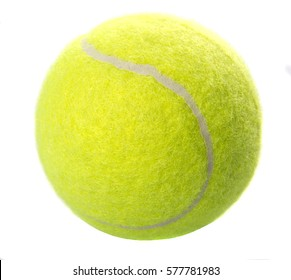 Tennis ball over white background