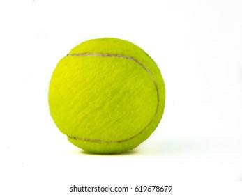 Tennis ball over white background