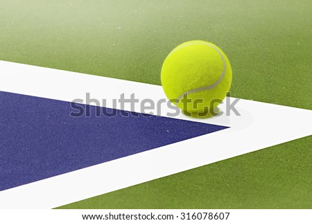 Tennis Ball Placed On White Border Stock Photo Edit Now 316078607