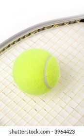 a tennis ball and racket