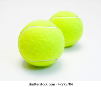 tennis balls isolated on white