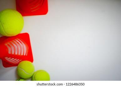 Tennis balls on  white background