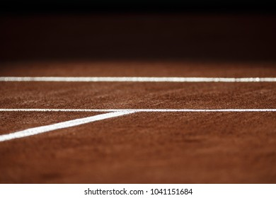 Tennis Clay Court and lines