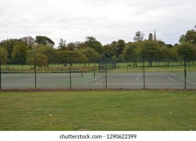 Tennis Court in Cambridge, England