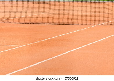 tennis court and net