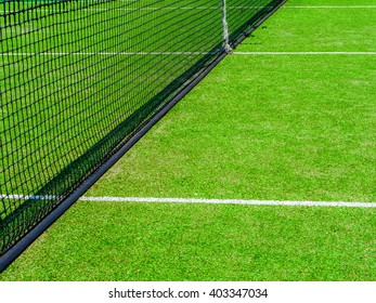 Tennis court on the vacation time