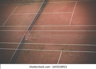 Tennis court in Prague, Vysehrad, Czech Republic