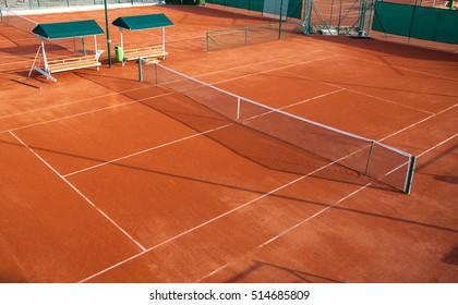 Tennis court at a private estate