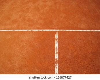 tennis court t-line  67