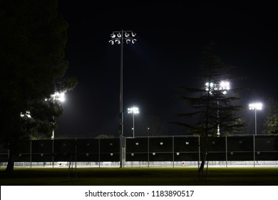 Tennis courts in the spotlights