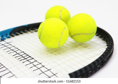 Tennis on white background