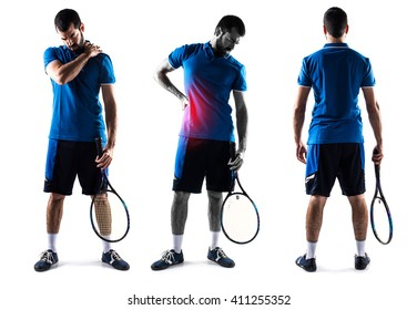 Tennis player with back pain