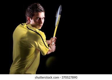 Tennis Player Backhand Portrait
