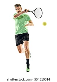tennis player man isolated