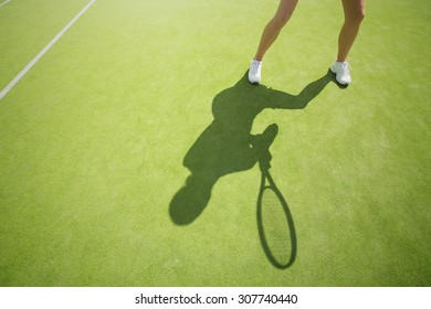 Tennis player on the court