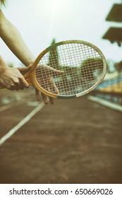 Tennis racket hand