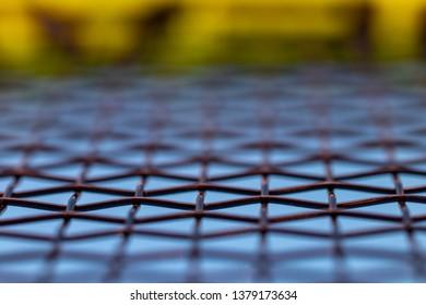 tennis racket string close up detail