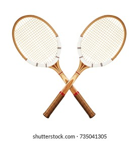 Tennis rackets isolated on white background