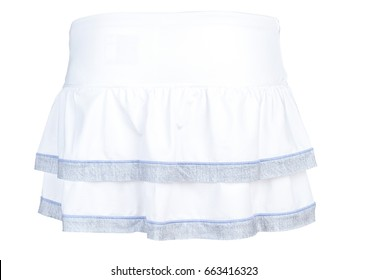 Tennis Skirt Isolated on White Background. Back View.