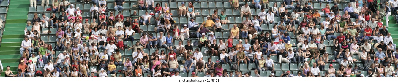 Tennis Spectators on the stands