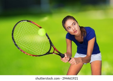 Tennis, Women, Sport.