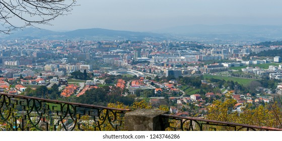 Tenoes, Portugal - April 2018: town view from the hill