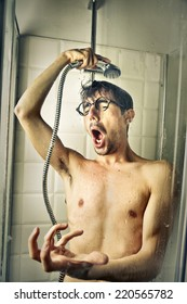 A tenor in the shower