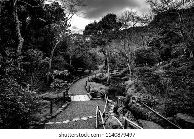 Tenryu-ji Temple, Kyoto prefecture, Chūgoku(San'in-San'yō) region, Japan, January 2017: Side by Silent