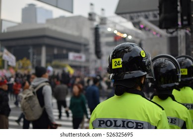 Tens of thousands protest in South Korea