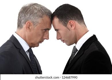Tension between two businessmen
