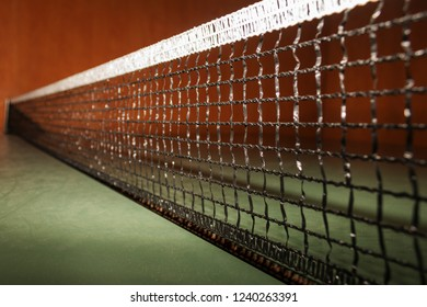 Tensioned table tennis net