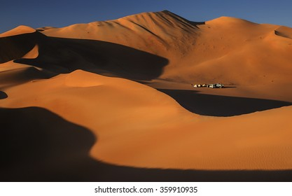 Tent camp among the dunes on Empty Quarter, Rub al Khali Desert, Oman