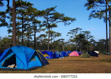 tent camping site  thailand