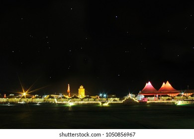 The Tent city, dhordho at Runn of Kutch, Gujarat, during the famous Runn Utsav 2018