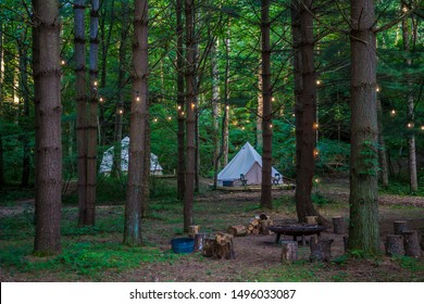 Tent Glamping in the Woods