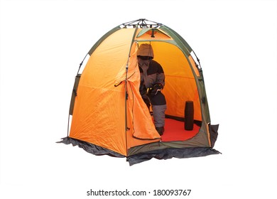 Tent isolated under the white background