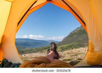 Tent lookout on the Kungsleden
