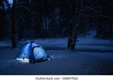 tent at night, Black Forest, Germany