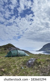 A tent in the Scottish Highlands.