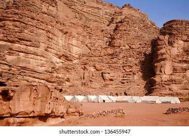 Tented camp in the Jordan Wadi Rum desert